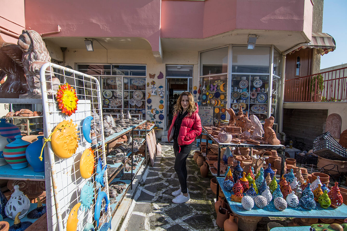 Ceramic Products in Armolia Village in South Chios