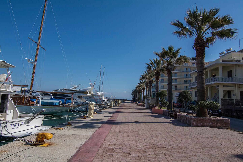 Chios Harbor Sidewalk