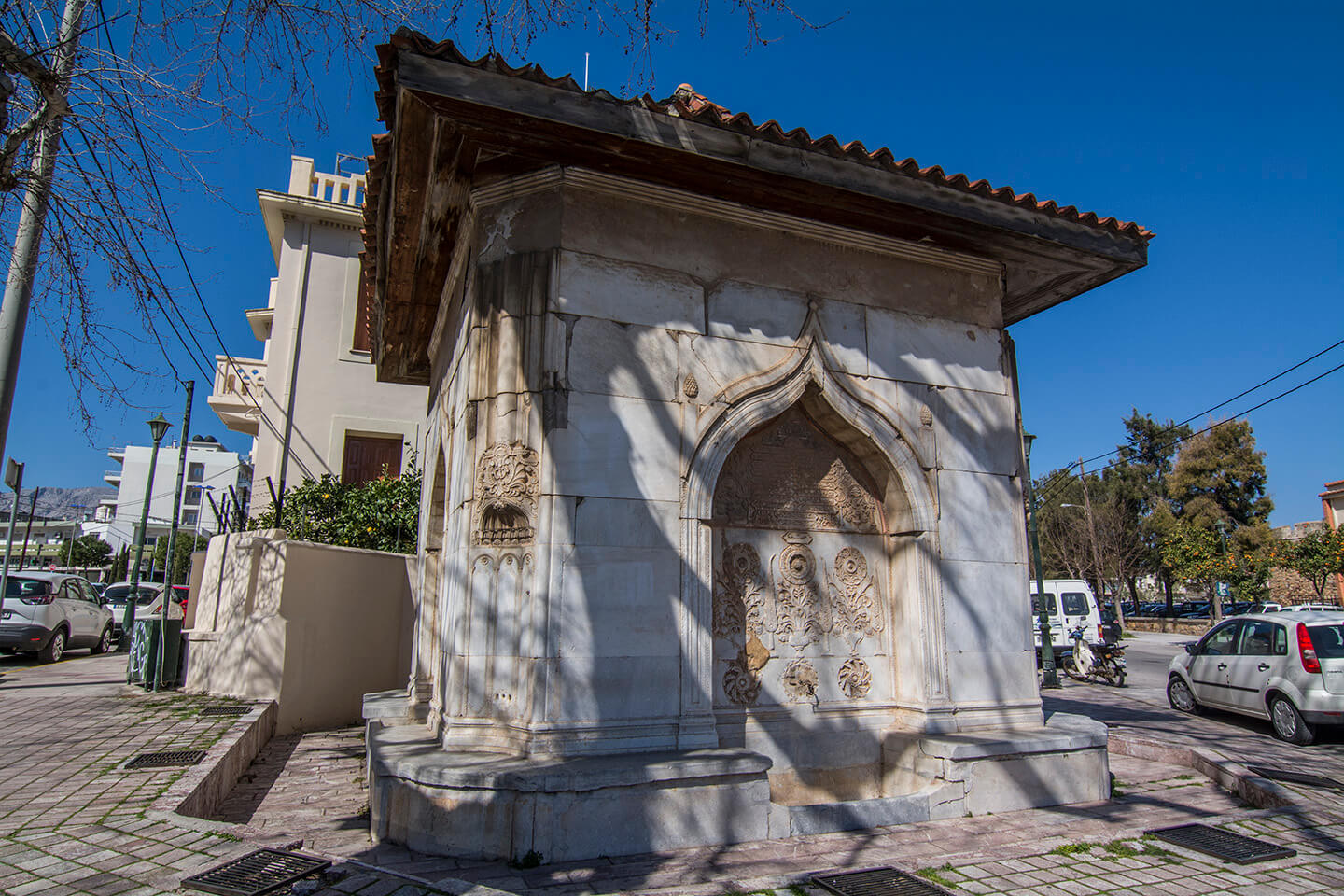 An old turkish fountain in the city of Chios