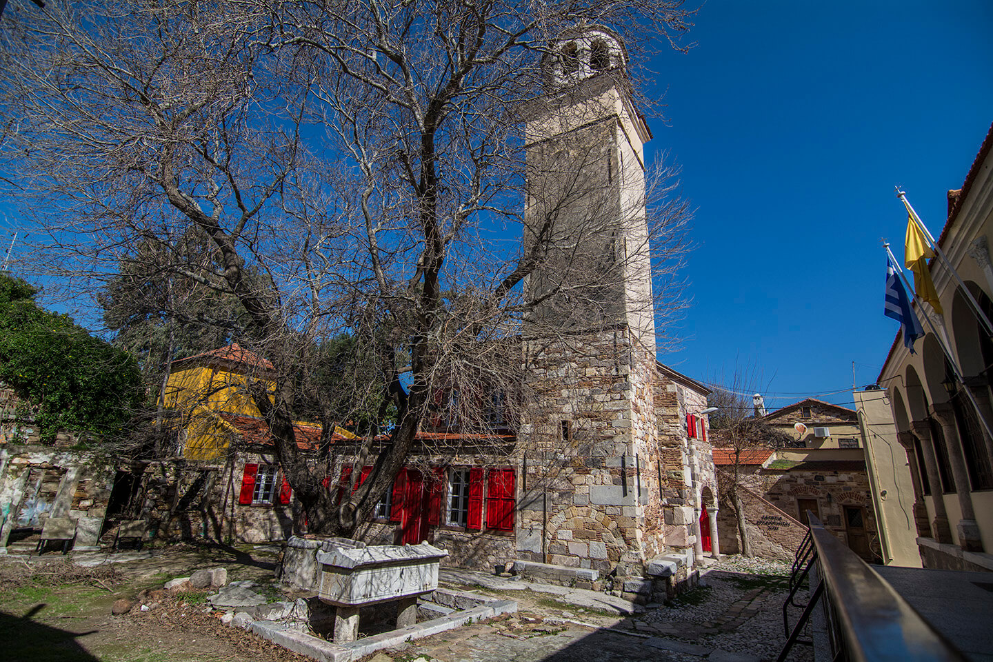 Stone Buildins in Old Twon of Chios