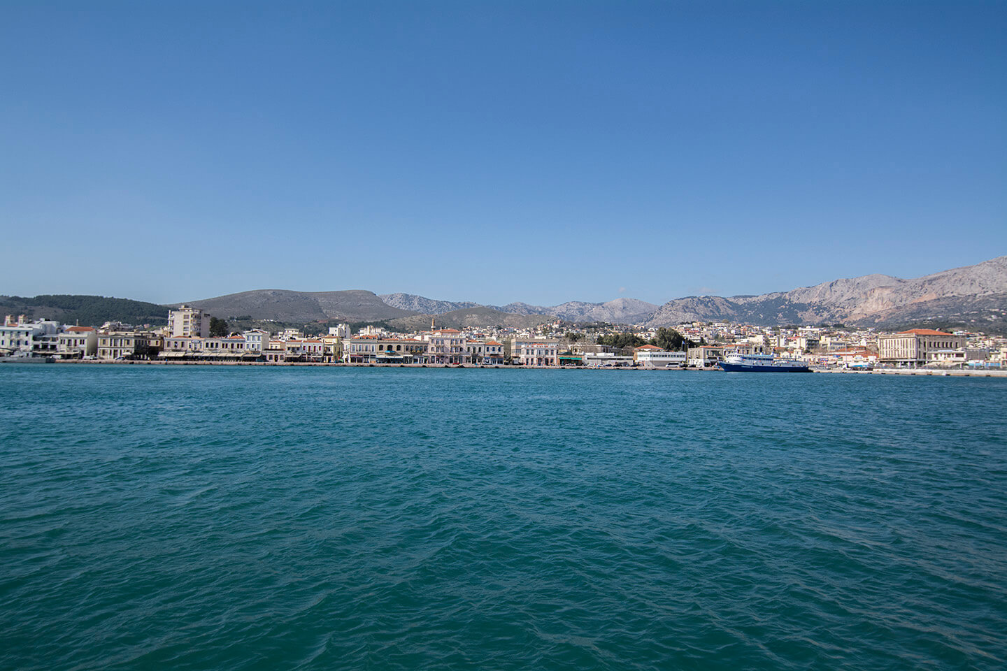 Chios city view from the harbor