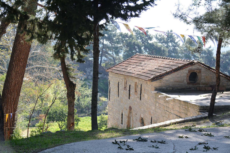 Evagelistria church in Mesa Didima Vilage in South Chios