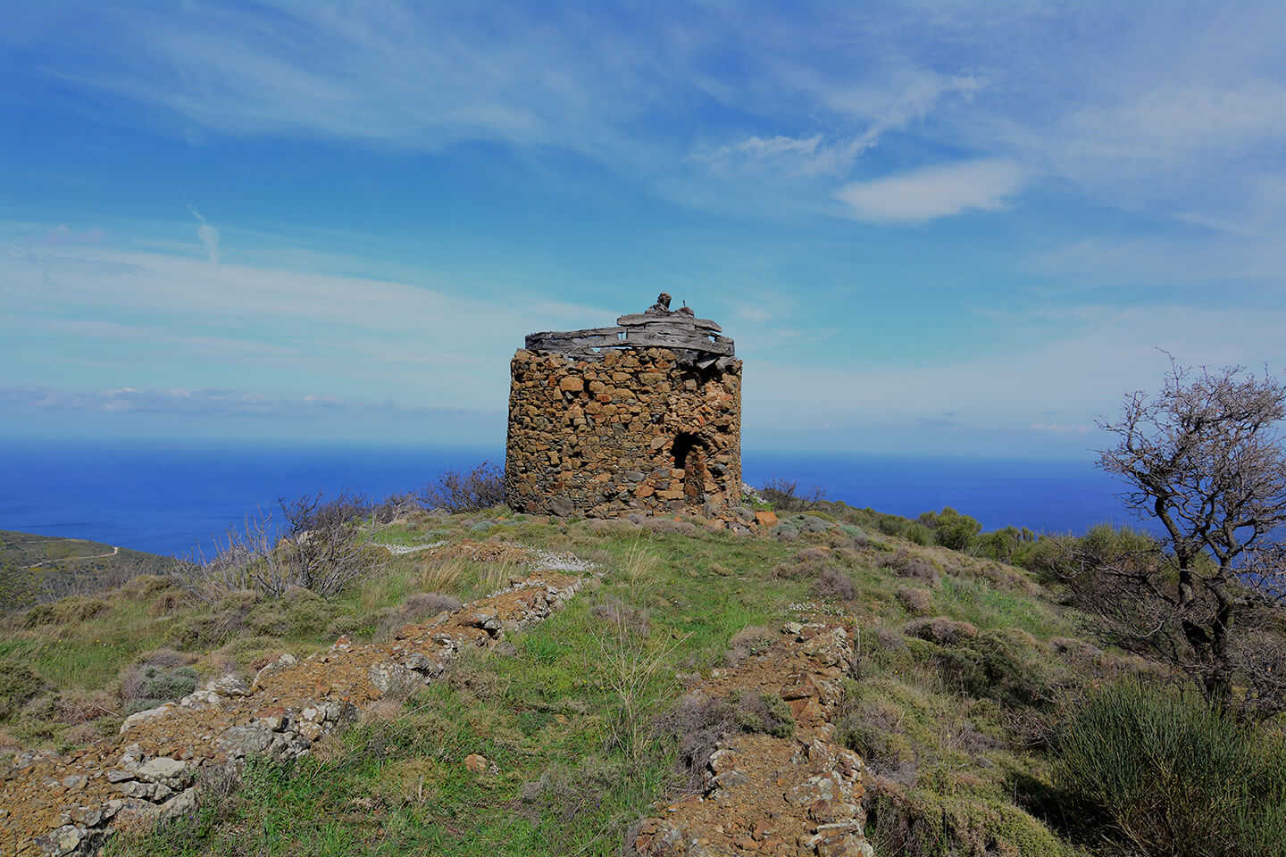 Watchtower in Kourounia Chios