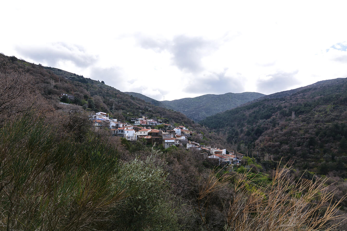 Kourounia village in north Chios