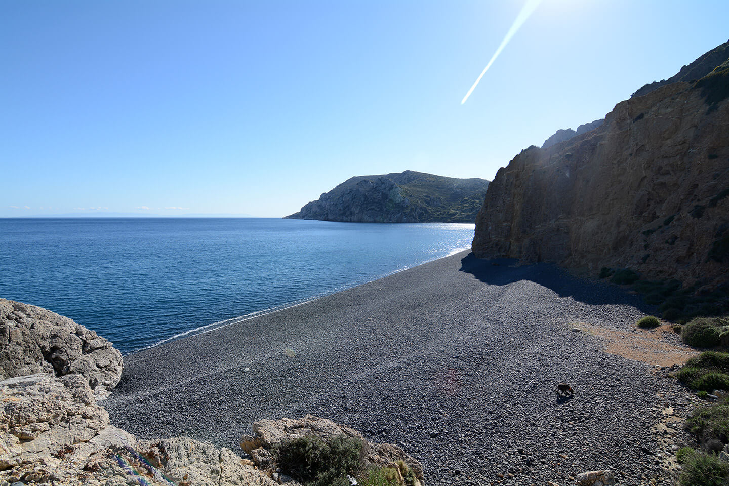 Mavra Volia Beach in Chios
