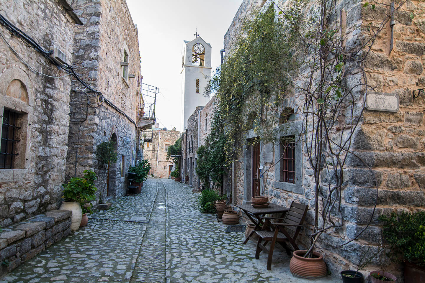 Mesta, a medieval village in south Chios