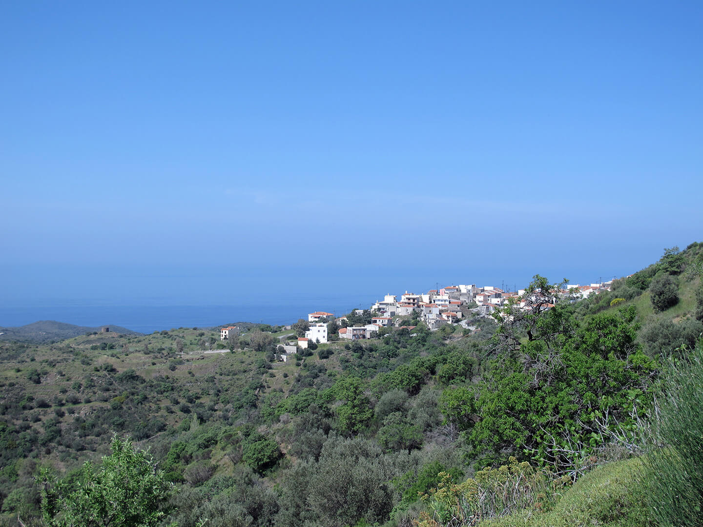Parparia village in north Chios