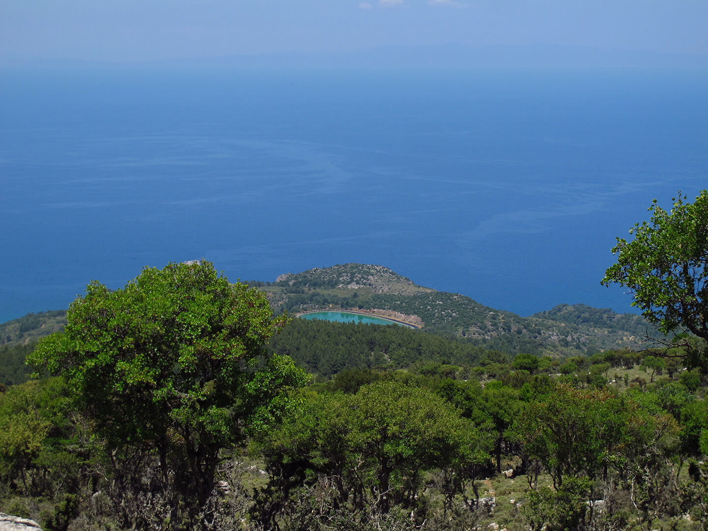 Sea view from Pelinaio mountain in north Chios