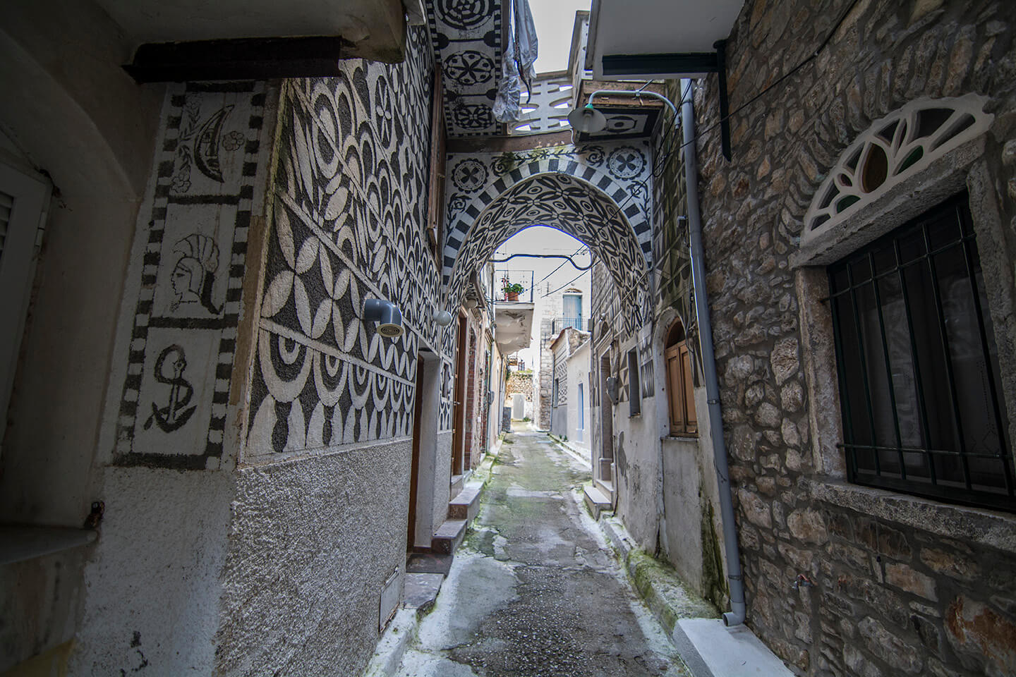 Pyrgi, a medieval village in south Chios